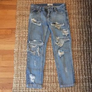 One Teaspoon Ripped Mom Jeans